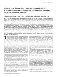 Intestinal Helminth Infection Immunity and Inflammation following ...