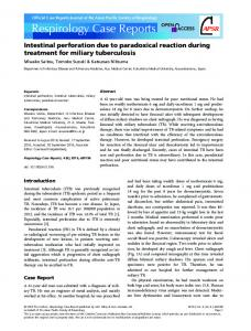 Intestinal perforation due to paradoxical reaction ... - Wiley Online Library
