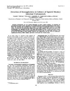 Intestinal Trichomonads - Journal of Clinical Microbiology - American ...