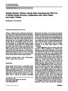 Intimate Partner Violence Among Asian Americans and Their Use of ...