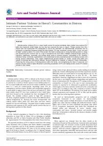 Intimate Partner Violence in Hawai i - AstonJournals