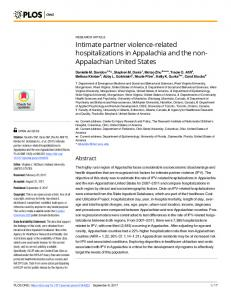 Intimate partner violence-related hospitalizations ... - Semantic Scholar