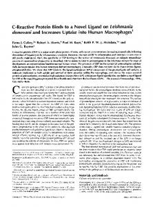 into human macrophages. Leishmania donovani and increases ...