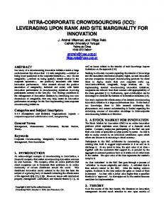 Intra-corporate crowdsourcing : leveraging upon rank ...