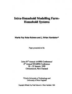 Intra-Household Modelling Farm- Household Systems - AgEcon Search