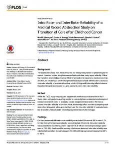 Intra- and inter-examiner reliability of goniometer     - J
