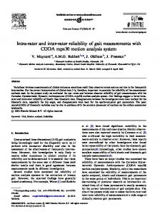 Intra-rater and inter-rater reliability of gait ... - Gait & Posture
