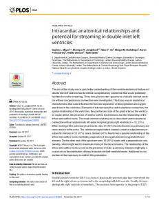 Intracardiac anatomical relationships and potential ... - Semantic Scholar