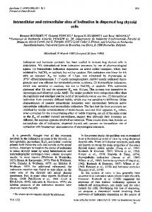 Intracellular and extracellular sites of iodination in dispersed hog ...