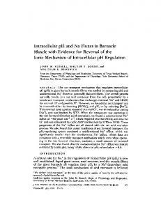Intracellular pH and Na Fluxes in Barnacle Muscle ... - BioMedSearch