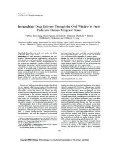Intracochlear Drug Delivery Through the Oval ... - IngentaConnect