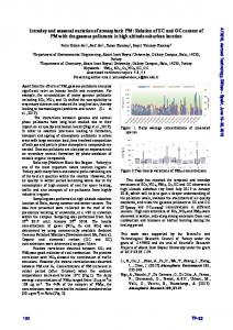 Intraday and seasonal variation of atmospheric PM