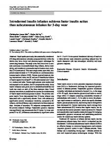 Intradermal insulin infusion achieves faster insulin ... - Springer Link