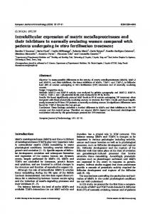 Intrafollicular expression of matrix metalloproteinases and their ...