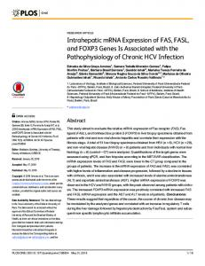 Intrahepatic mRNA Expression of FAS, FASL, and