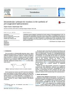 Intramolecular carbonyl-ene reactions in the synthesis