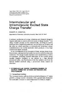 Intramolecular Excited Charge Transfer - Hindawi