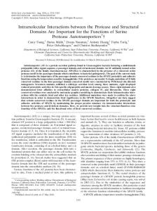 Intramolecular Interactions between the Protease and Structural ...