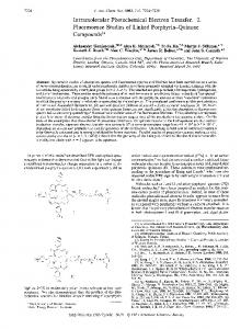 Intramolecular Photochemical Electron Transfer. 2 ... - ACS Publications
