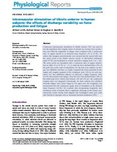 Intramuscular stimulation of tibialis anterior in ... - Wiley Online Library