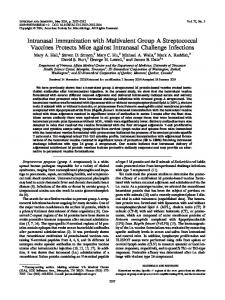 Intranasal Immunization with Multivalent Group A Streptococcal ...