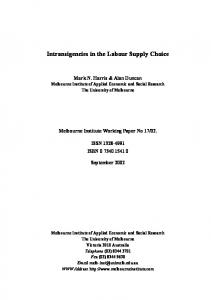 Intransigencies in the Labour Supply Choice