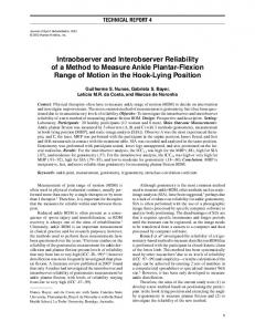 Intraobserver and Interobserver Reliability of a Method to Measure ...