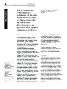 Intraobserver and interobserver reliability of the R/D score for ...