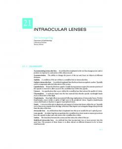 INTRAOCULAR LENSES - McGraw-Hill Professional