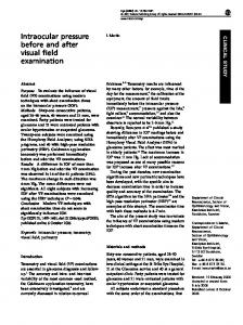 Intraocular pressure before and after visual field examination - Nature