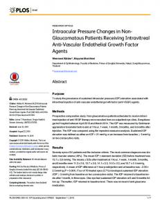 Intraocular Pressure Changes in Non ... - Semantic Scholar