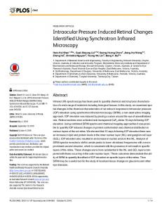 Intraocular Pressure Induced Retinal Changes ...