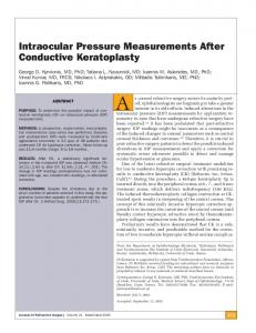 Intraocular Pressure Measurements After Conductive Keratoplasty