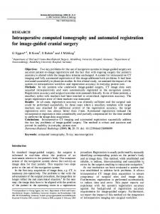 Intraoperative computed tomography and ... - Semantic Scholar