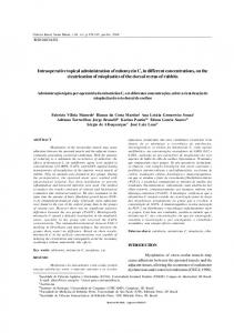 Intraoperative topical administration of mitomycin