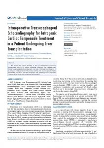 Intraoperative Transesophageal Echocardiography ...