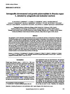 Intraspecific chromosomal and genetic polymorphism in Brassica ...