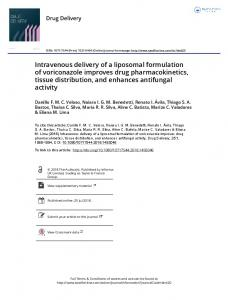 Intravenous delivery of a liposomal formulation of