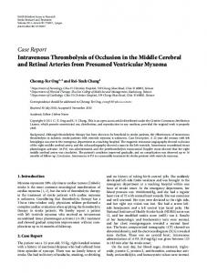 Intravenous Thrombolysis of Occlusion in the Middle Cerebral and ...