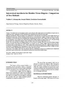 Intravesical Anesthesia for Bladder Tissue Biopsies. Comparison of ...