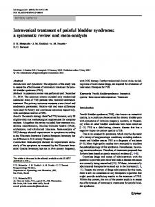 Intravesical treatment of painful bladder syndrome: a systematic ...