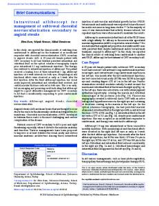 Intravitreal aflibercept for management of subfoveal ...