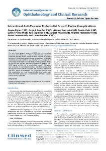 Intravitreal Anti-Vascular Endothelial Growth Factor Complications