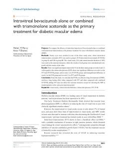 intravitreal bevacizumab alone or combined with ... - CiteSeerX