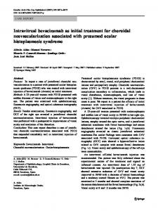 Intravitreal bevacizumab as initial treatment for choroidal ...