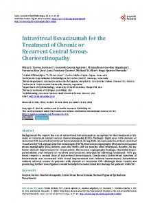 Intravitreal Bevacizumab for the Treatment of Chronic or Recurrent ...
