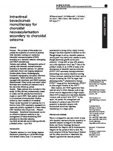 Intravitreal bevacizumab monotherapy for choroidal ... - Nature