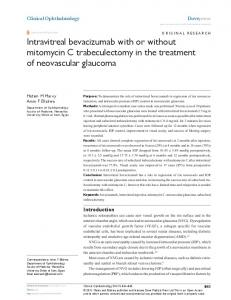 intravitreal bevacizumab with or without mitomycin ... - Semantic Scholar