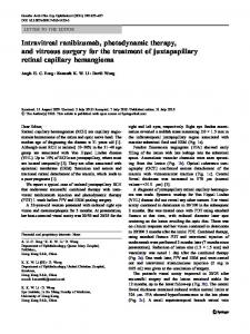 Intravitreal ranibizumab, photodynamic therapy, and ... - Springer Link
