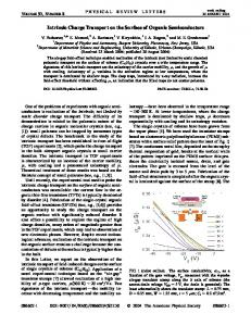 Intrinsic Charge Transport on the Surface of ... - Semantic Scholar